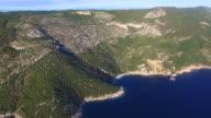 Aerial view of beautiful beach St. John on Island of Cres, Croatia video