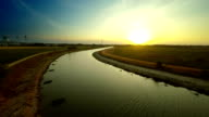aerial view of beautiful canal video