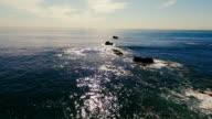 Aerial view of beautiful Laguna Beach in the summer sun video