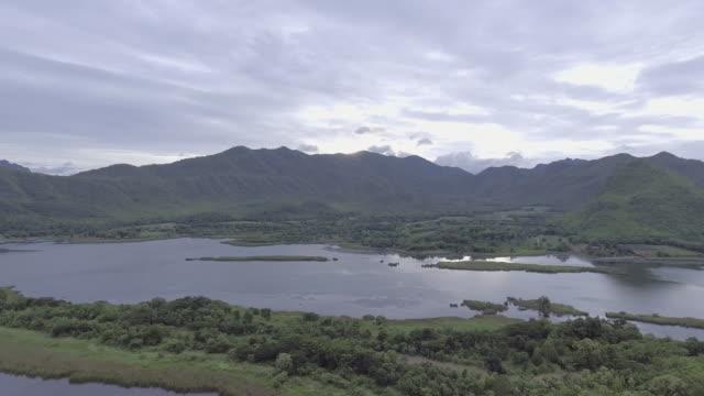 Aerial view of Beautiful Lake video