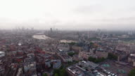 Aerial View Of Beautiful Sunrise At The City Of London Skyline Iconic Landmarks video