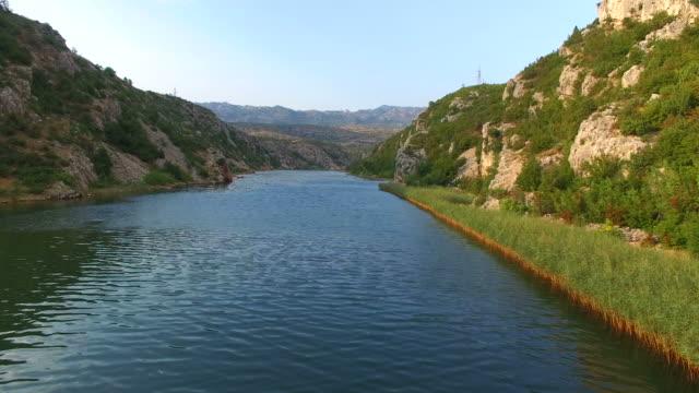 Aerial view of beautiful Zrmanja river video