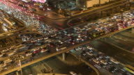 T/L MS HA TD Aerial View of Beijing Traffic Jam / Beijing, China video