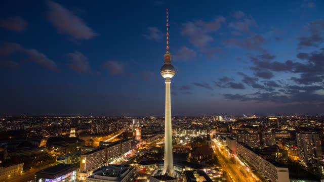 Aerial view of Berlin Skyline video