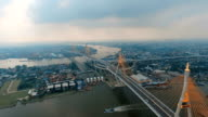 aerial view of bhumibol 1,2 bridge video