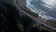 Aerial view of Bixby Bridge video