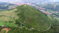 Aerial view of Bosnian pyramids video