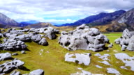Aerial view of Boulders at Castle Hill, New Zealand video