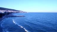 Aerial view of Bulgarian Black Sea Coast video