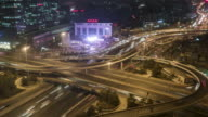 T/L HA RL PAN Aerial View of Busy Road Intersection / Beijing, China video