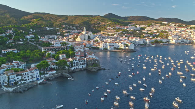 Aerial view of Cadaques video
