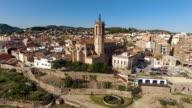 Aerial View of Caldes De Montbui in Barcelona video