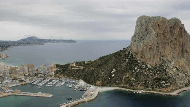 aerial view of Calpe, Costa Blanca, Spain. video