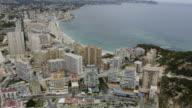 aerial view of Calpe, Costa Blanca, Spain. video