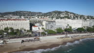 Aerial View of Cannes, the croisette, 4K, UHDV movie (3840X2160) video