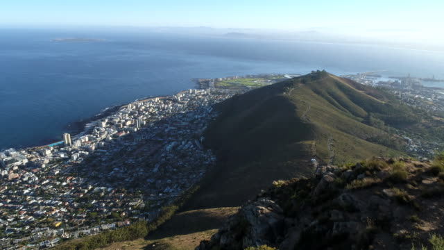 Aerial view of Cape Town, South Africa video