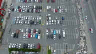 Aerial View of Car Park The Mall 4K Clip Shot by Drone Cam video