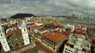 Aerial View of Casco Viejo, San Felipe, Panama video
