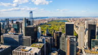 Aerial view of Central Park, Manhattan, New York City video