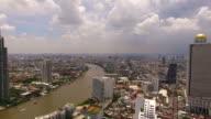 aerial view of chaopraya river in bangkok thailand video