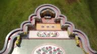Aerial view of Chinese graveyard in Baanbung, Chonburi, Thailand. video