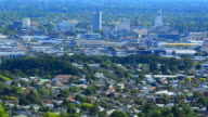 Aerial view of Christchurch skyline New Zealand video