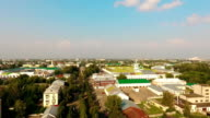 Aerial view of city center of Kostroma at summer, Russia video