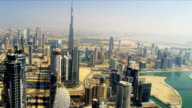 Aerial view of city downtown Dubai video