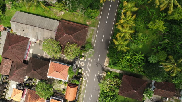 Aerial view of city in Bali, Indonesia. video
