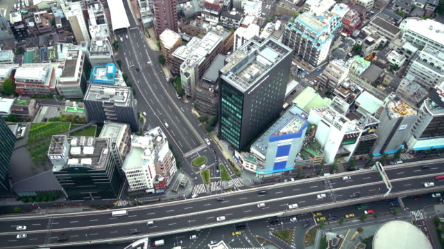 Aerial View of City Traffic in Tokyo video