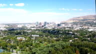 Aerial view of City with Mountains video