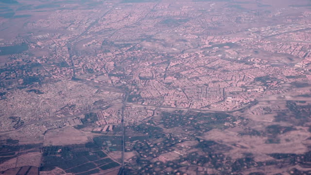Aerial View of cityscape in Marrakesh, Morocco video