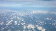 Aerial (bird eye) view of clouds and land video