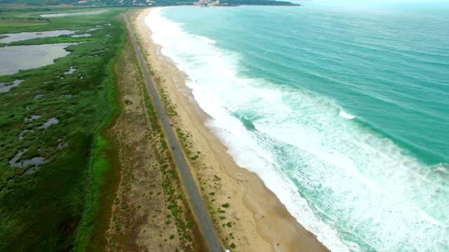 4K Aerial view of coastline video