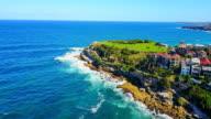 Aerial view of  coatline Bondi to Tamarama walk video