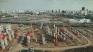 Aerial View of Construction Site,4K video