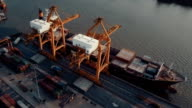 aerial view of container port video