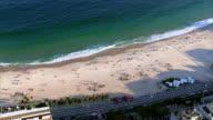 Aerial view of Copacabana beach, Rio de Janeiro, Brazil video