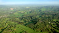 Aerial View of Countryside in Sunshine. HD video