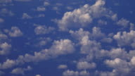 Aerial view of Cumulus Cloudscape during flight video