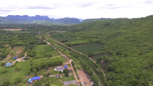 Aerial View of Death Railway and River video