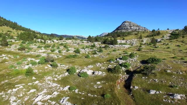 Aerial view of Dinara mountain, Croatia video
