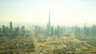 Aerial view of downtown Dubai Burj Khalifa video