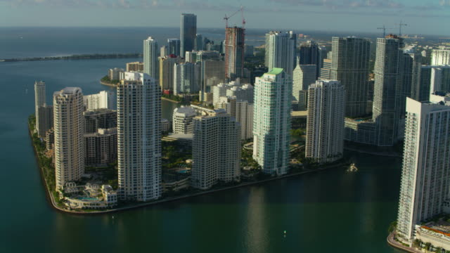 Aerial view of downtown Miami video