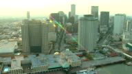 Aerial View of Downtown New Orleans video