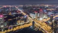 T/L WS HA TU Aerial View of Dramatic City Scene / Beijing, China video