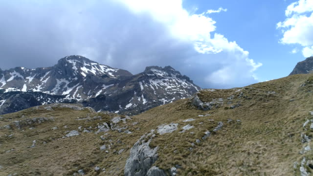 Aerial view of Durmitor Mountains of Montenegro video