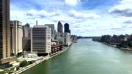 Aerial View of East River from Roosevelt Island Tramway PT1of2 video