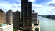 Aerial View of East River from Roosevelt Island Tramway PT2of2 video
