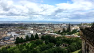Aerial view of Edinburgh, Scotland video